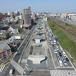 福岡3号春の町ランプ橋下部工(P8)工事
